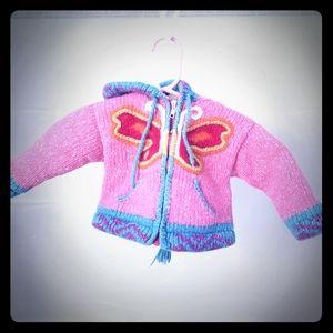 Butterfly Alpaca Wool Sweater❤ Beautiful and Warm